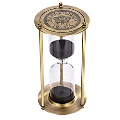 ELEGANT DECORATION: The 30 minute sand timer has Brass frame with bronze finish and hand-blow glass adds a polished touch to your home or office. And it's bound to amaze and impress your guests. Makes a thoughtful gift for any occasion A Fashion Way ...