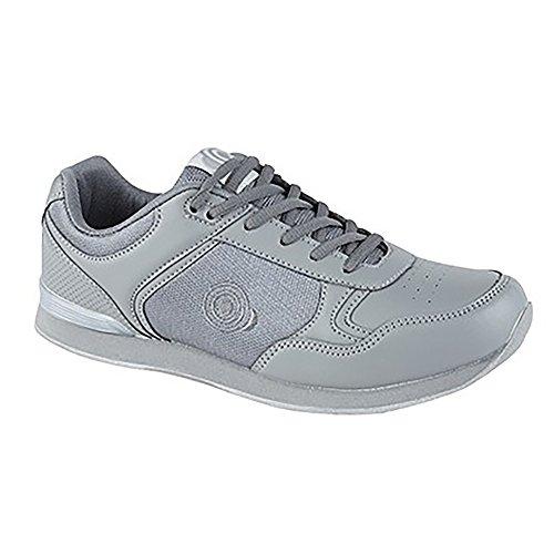Dek Jack Bowlingschuhe, mit Schnürsenkel, Sportschuhe, in Weiß/Grau, für Herren, Grau - Grey PU/Textile - Größe: 43