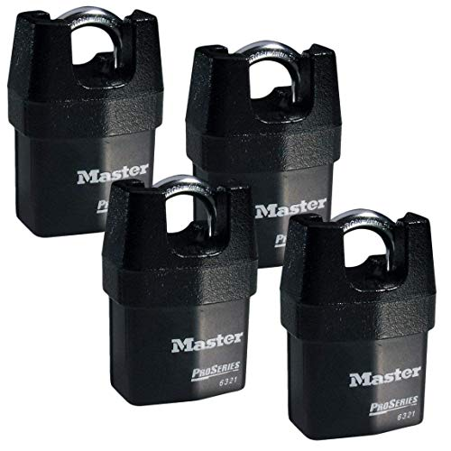 Master Lock - Four (4) High Security Pro Series Padlocks 6321NKA-4 w/BumpStop Technology