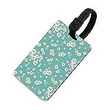 Etiqueta de equipaje ajustable para niños, etiquetas identificadoras de bolsa con cubierta de privacidad, accesorios de etiqueta de viaje para maleta/aviones/mochilas, hermoso Daitsy Floral
