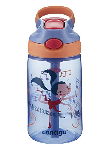 Contigo Gizmo Flip Botella, Unisex-Baby, Wink with Dancers Pink, 420 ml