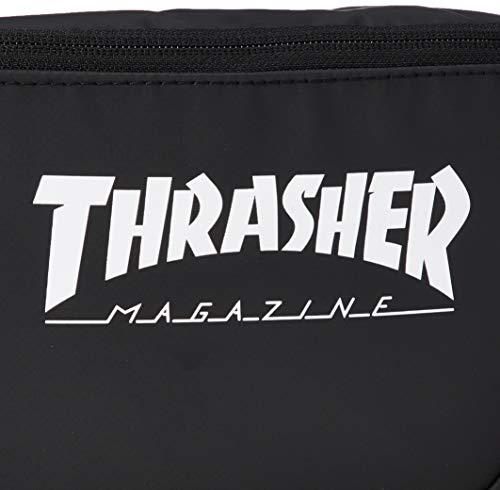 [スラッシャー] [ユニセックス] ウエストバッグ (PVCコーティング)[ THR-121 / Waist Bag ] おしゃれ ヒップ BKWT_ブラック・ホワイト