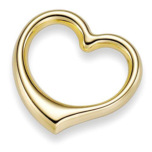 Anhänger Herz 24x22mm aus 585 Gold Gelbgold Goldanhänger Damen