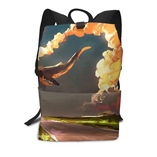 Homebe Rucksäcke,Daypack,Schulrucksack Für Erwachsene Jungen Mädchen, Download Cloud Sky Whale Printed Primary Junior High Cute Bag Bookbag Elementary