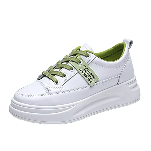Zapatillas de Deporte para Mujer, Zapatos de Plataforma Antideslizantes con Cordones, Zapatos Informales Ligeros y Transpirables de Moda para Uso Diario