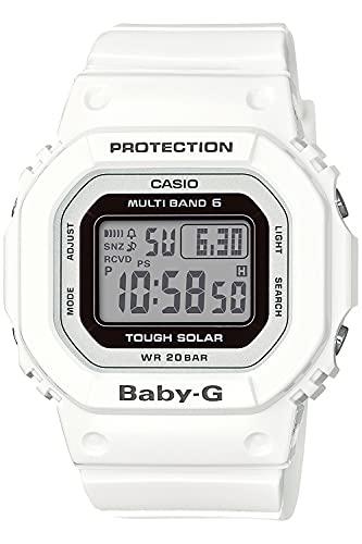 [カシオ] 腕時計 ベビージー 電波ソーラー スーパーイルミネータータイプ(高輝度なLEDライト) BGD-5000U-7JF レディース ホワイト