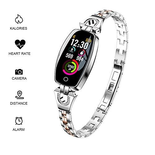 RISSME Armband Frauen,SmartBracelet,Wasserdicht Fitness Tracker Kalorie Pulsmesser/Schrittzähler/Schlaf Monitor Kompatibel mit iOS und Android