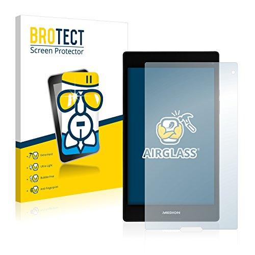 BROTECT Panzerglas Schutzfolie kompatibel mit Medion Lifetab P8312 (MD 99334) - AirGlass, extrem Kratzfest, Anti-Fingerprint, Ultra-transparent