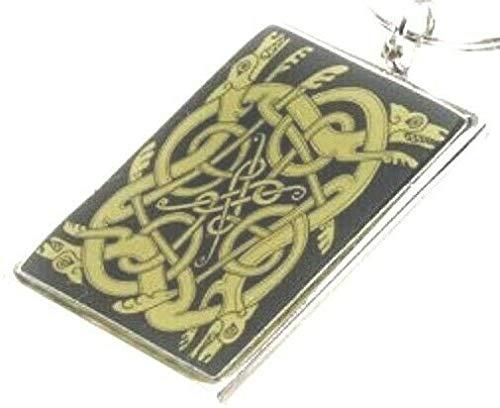 Celtic Metal Keyring Trinity Knot Pagan Wiccan Souvenir New Key Chain Scottish Welsh Irish
