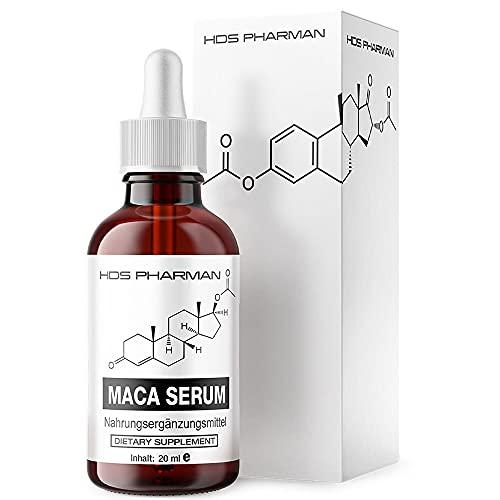 Maca Serum Flüssig hochdosiert - Hanfsamenöl - vegan - Maca Extrakt 50: 1-200 mg entsprechen 10.000 mg Maca