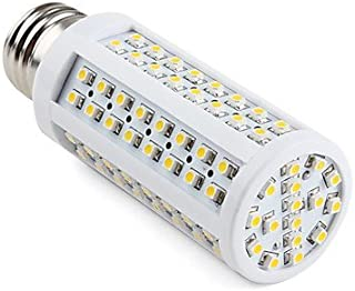 E26 Screw Base Fitting Tower LED Light Bulb Socket Wide DC 12V 20V Traditional Bulbs Replacement Low Volt ES Home Project Lighting Solar Power Grid Marine Boat RV Vehicles - 3000K Soft Warm White, 7W