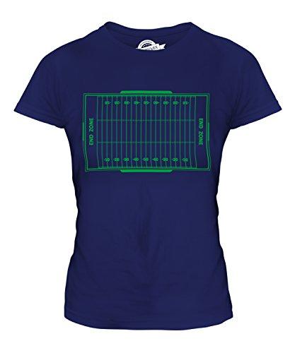 Candymix American Football Spielfeld Damen T Shirt, Größe 2X-Large, Farbe Navy Blau