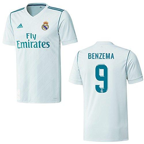 adidas REAL Madrid Trikot Home Herren 2018 - Benzema 9, Größe:XL