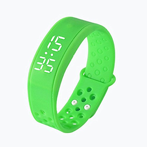 hunpta Kinderaktivität Verfolger Kinder Schrittzähler Step Counter Fitness Band (Grün)