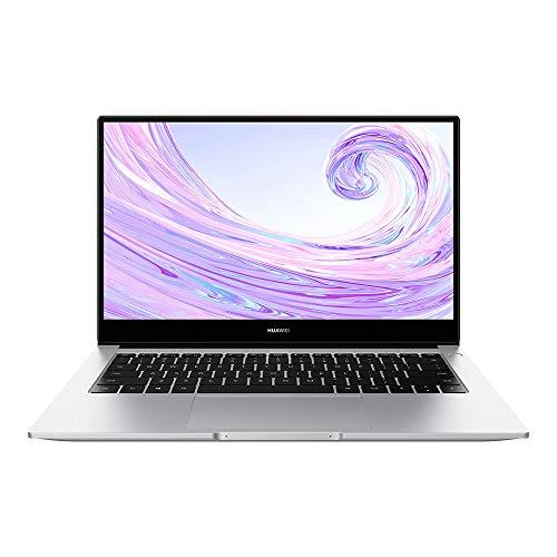 HUAWEI MateBook D 14 PC Portable, 14 pouces 1080p FHD (Intel Core i7-10510U, RAM 16Go, SSD 512Go, MX250, Windows 10 Home, Clavier Français AZERTY), Argent