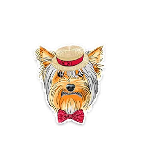 LXLZN Car/Bumper Vinyl Decal Wall Stickers & Murals Car Stickers Surfing Fly Fishing Pet Halloween Christmas 2 Pieces Yorkshire Terrier Car Sticker 9 * 10 cm