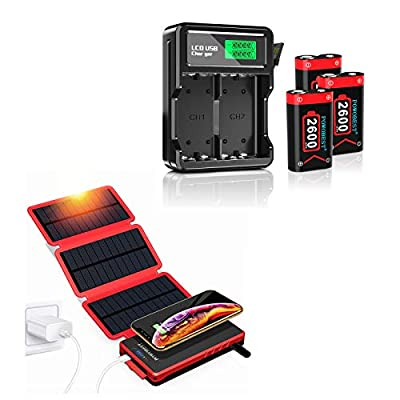 POWOBEST Rechargeable 3 x 2600mAh Battery Pack,for Xbox Series X/S Xbox One/Xbox One S/Xbox One X/Xbox One Elite Wireless and Outdoor Solar Cellphone Power Bank 20000mAh Portable Waterproof Wireless