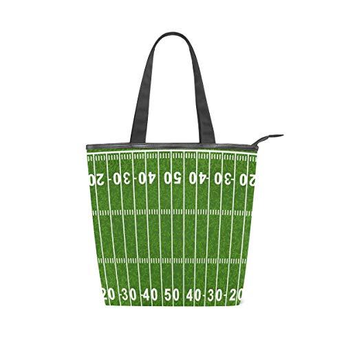 MONTOJ Grand American Football Field Handtaschen Schultertasche Tragetasche