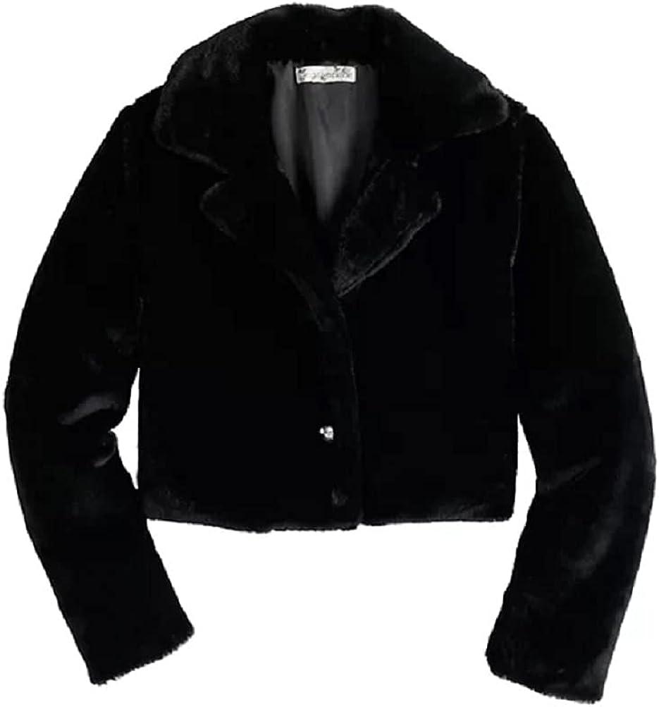 Little Girls Knit Works Faux Fur Party Dress Coat Jacket Size 5