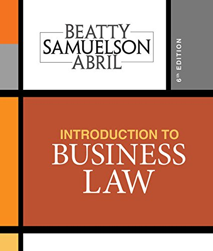 Compare Textbook Prices for Introduction to Business Law 6 Edition ISBN 9781337404341 by Beatty, Jeffrey F.,Samuelson, Susan S.,Abril, Patricia
