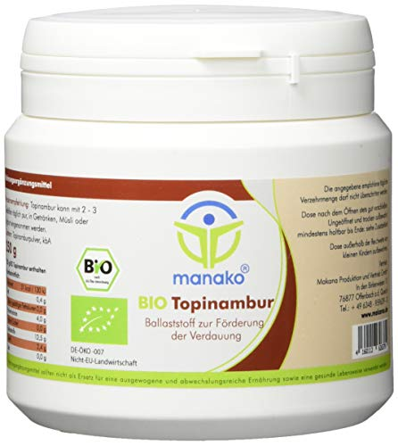 manako prebiotic BIO Topinambur Pulver, 250 g Dose (1 x 0,25 kg)