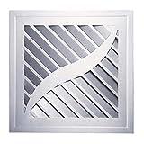 LANDUA Ventilador de ventilación, Cuadrado Blanco Ventilador de Techo Baño WC WC Cocina o de Montaje en Pared Extintor