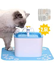 Innoo Tech Pet Fountain, 84oz/2.5L Automatic Cat Water Fountain Dog Water Dispenser with 3 Replacement Filters & 1 Silicone Mat for Cats, Dogs, Multiple Pets
