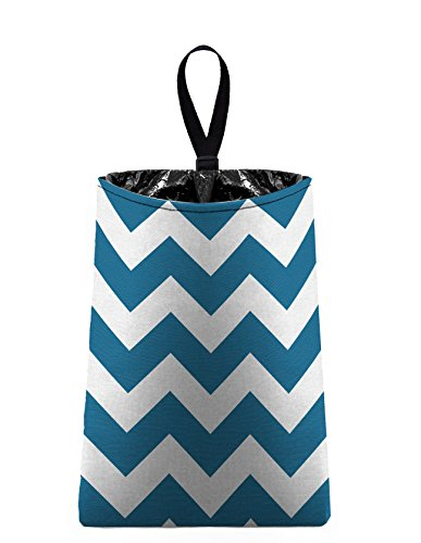 The Mod Mobile Auto Trash (Teal Chevrons) by car trash bag litter bag garbage can for your automobile
