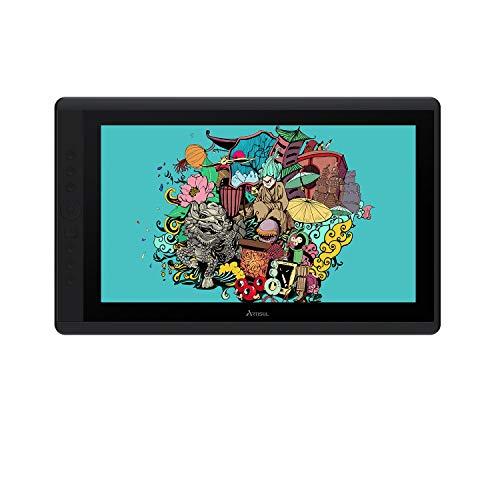 Artisul D16 15.6 Zoll Grafikmonitor Drawing Pen Tablet 1920 X 1080 HD Grafiktabletts mit 7 Tastenkombinationen und einem Ständer,Guter Partner für unterwegs und zu Hause
