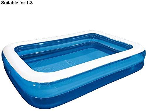 Planschbecken für Haustiere und Kinder, Schlauchboot für Kinder, Erwachsene, Familien, Rechteck-Schwimmbad für Gärten, dicke, haltbare Babyballgrube,200cm