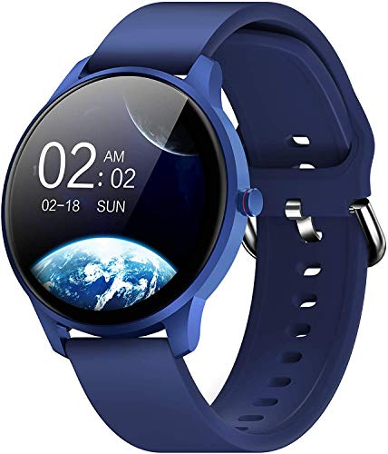 Smart Watch for Android iOS Phones Compatible with iPhone Samsung, CUBOT W03 IP68 Waterproof Fitness Tracker Smartwatch for Men Women Heart Rate Monitor Pedometer Sleep Monitor (Blue)