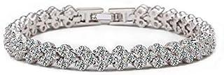 Swarovski Elements lady 18K white gold Plated elegant glisten diamonds crystal bangle Bracelet
