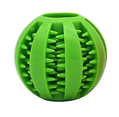 Dog Ball Toys Dog Feeder Toy Chew Toys for Dogs IQ Dog Treat Ball Interactive Treat Dispensing Dog Puzzle Toy Rubber Dog Ball Slow Feeding Food Dispensing Dog Toy Reduce Boredom Teething Toy