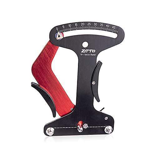 QYQS Tensiómetro de radios de Bicicleta, Herramienta de calibración de Bicicletas de montaña, tensiómetro de radios de aleación de Aluminio, fijación precisa