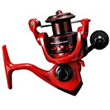 Ultralight Spinning Reel Size 500 Suitable for Ice Fishing Reel Ultra Smooth (Red, 500)
