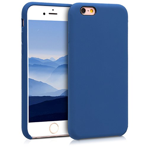kwmobile Cover compatibile con Apple iPhone 6 / 6S - Custodia in silicone TPU - Back Case protezione cellulare blu marino