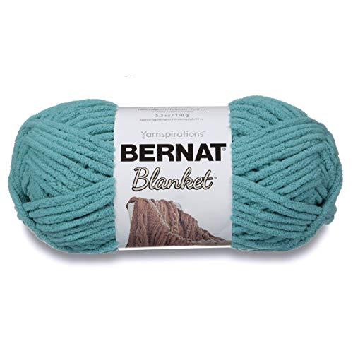 Bernat Blanket Super Bulky Yarn, 5.3oz, Guage 6 Super Bulky, Light Teal