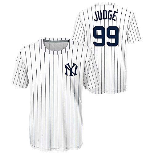 Aaron Judge New York Yankees #99 Cooperstown Collection Polyester Youth Home Jersey T-Shirt (Medium10/12) White