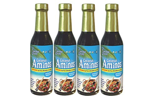 Coconut Secret CCS00204P4 Raw Coconut Aminos Soy Free Seasoning Sauce, 8 fl oz, Pack of 4