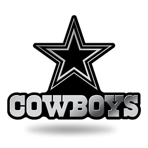 NFL Rico Industries Chrome Finished Auto Emblem 3D Sticker, Dallas Cowboys