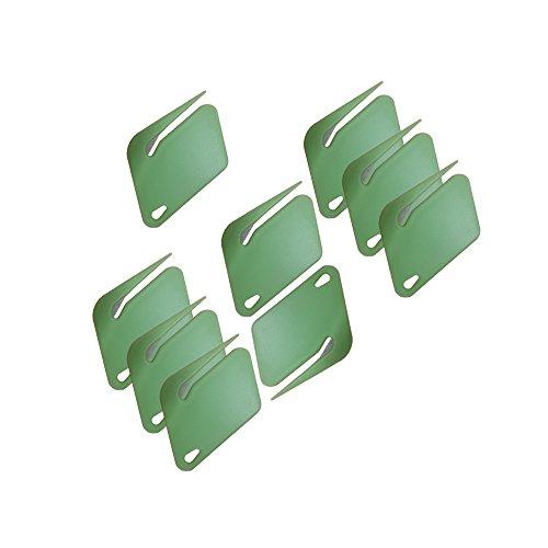 Plastic Letter Opener Envelope Slitter With Concealed Steel Blade  Green  9 Pack By Mega Stationer
