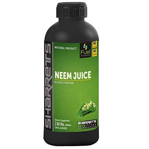 Sharrets Natural Neem Juice for Drinking, Skin and Hair – 946ml, No Flavor, No Color, No Added Sugar, Halal Certified, Non GMO Gluten Free
