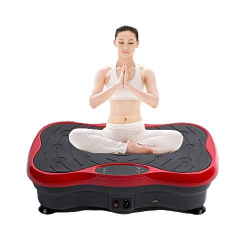 Wikidea Sports Fitness Vibrationsplatte,Profi Vibrationsplatte,Fett verlieren und Fitnesstraining von Zuause,0-99 Stufen verstellbar| super leise, belastbar bis 120 kgblack red