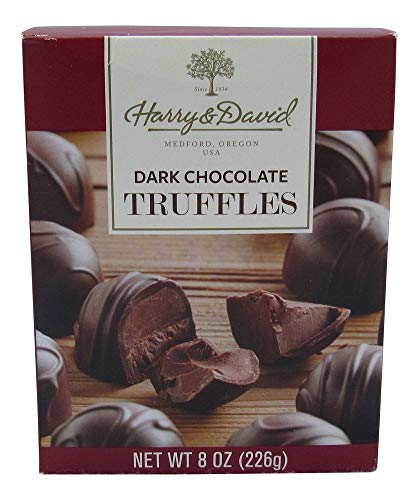 Harry & David Dark Chocolate Truffles, 8 Ounce Gift Box