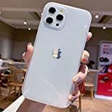 Anynve Compatible with iPhone 12 Case Girl,for iPhone 12 Pro Clear Crystal Case[Matte Shock-Absorption Bumper Edge] Silicone TPU Soft Gel Phone Cover Case 6.1 inch (2020) -Clear