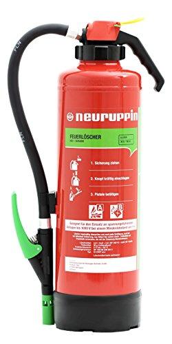 Neuruppin 6L Schaum Auflade-Feuerlöscher S6SKP eco Premium 10 LE inkl. ANDRIS® ISO-Symbolschild, ANDRIS® Prüfnachweis & Wandhalterung