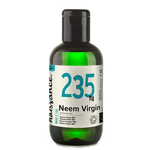 Naissance Organic Cold-Pressed Virgin Neem (no. 235) 100ml - Pure, Natural, Unrefined, Certified Organic, Vegan, No GMO