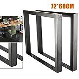 Jintaihua - Patas de mesa industriales, 2 unidades, 28,4 x 23,6 pulgadas, marco en U, para mesa de comedor, escritorio, armario, banco, oficina, escritorio, mesa de instalación, carga rápida, 1000 kg