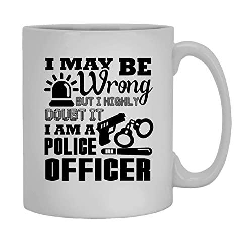 N\A Soy un Oficial de policíacer Coffee Mug White Coffee Mug Mango 11 oz