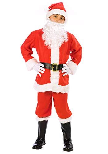 Fun World Big Boys' Santa Suit Costume - M